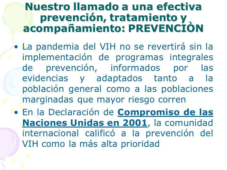 Nuestro llamado a una efectiva prevención, tratamiento y acompañamiento: PREVENCIÒN