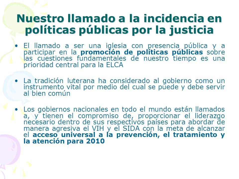 Nuestro llamado a la incidencia en políticas públicas por la justicia