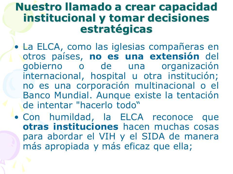 Nuestro llamado a crear capacidad institucional y tomar decisiones estratégicas