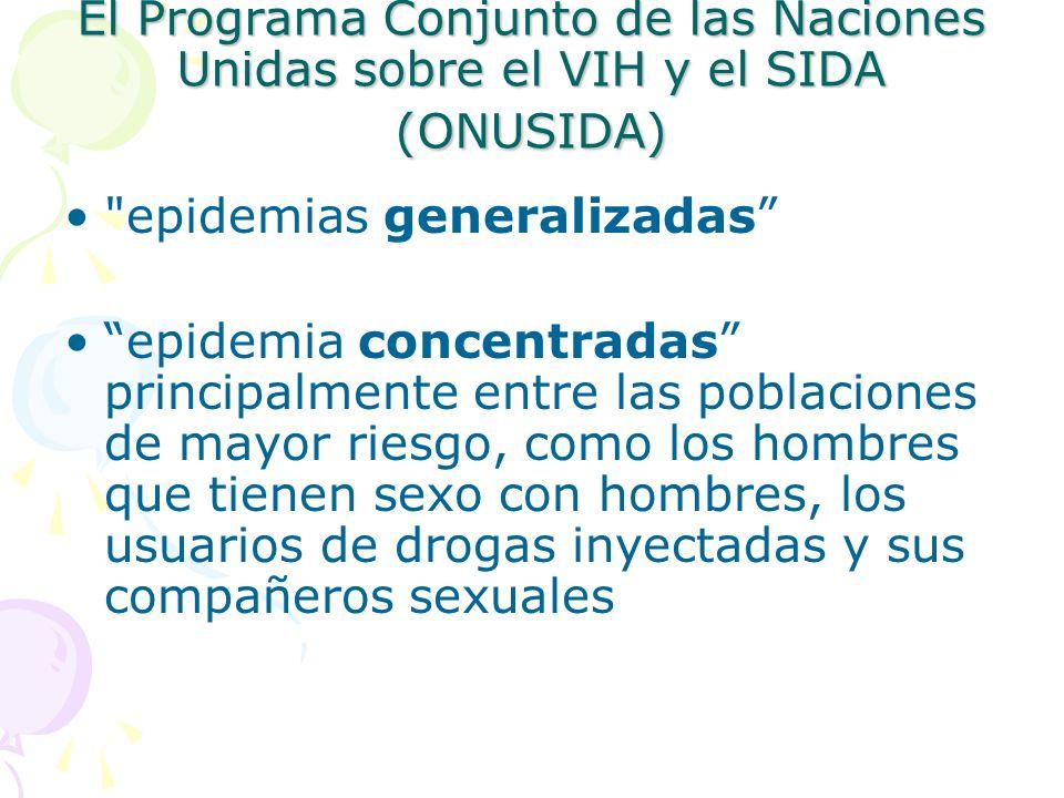 El Programa Conjunto de las Naciones Unidas sobre el VIH y el SIDA (ONUSIDA)