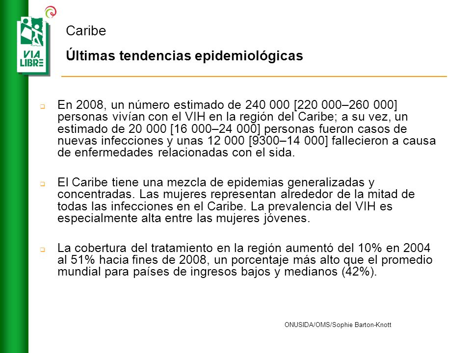 Caribe Últimas tendencias epidemiológicas