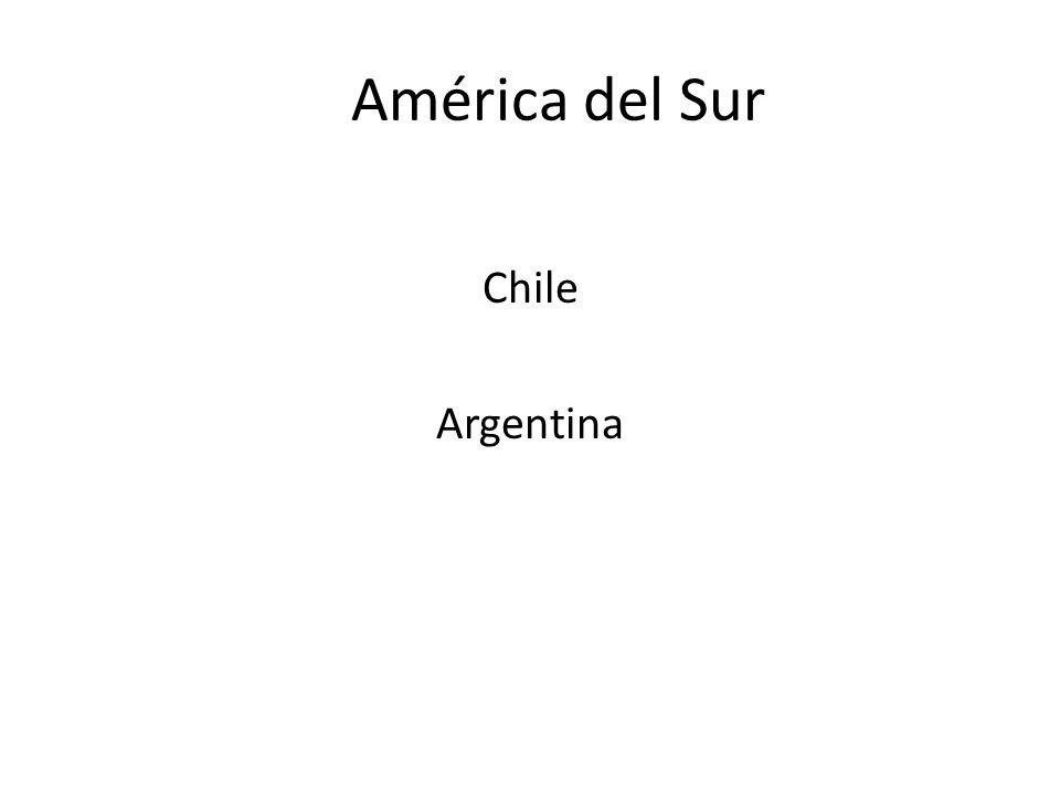 América del Sur Chile Argentina