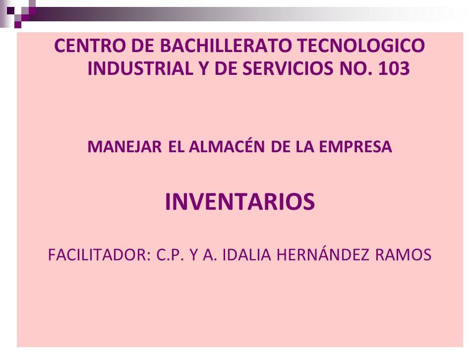 CENTRO DE BACHILLERATO TECNOLOGICO INDUSTRIAL Y DE SERVICIOS NO. 103