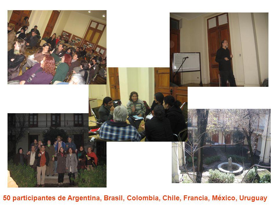 50 participantes de Argentina, Brasil, Colombia, Chile, Francia, México, Uruguay