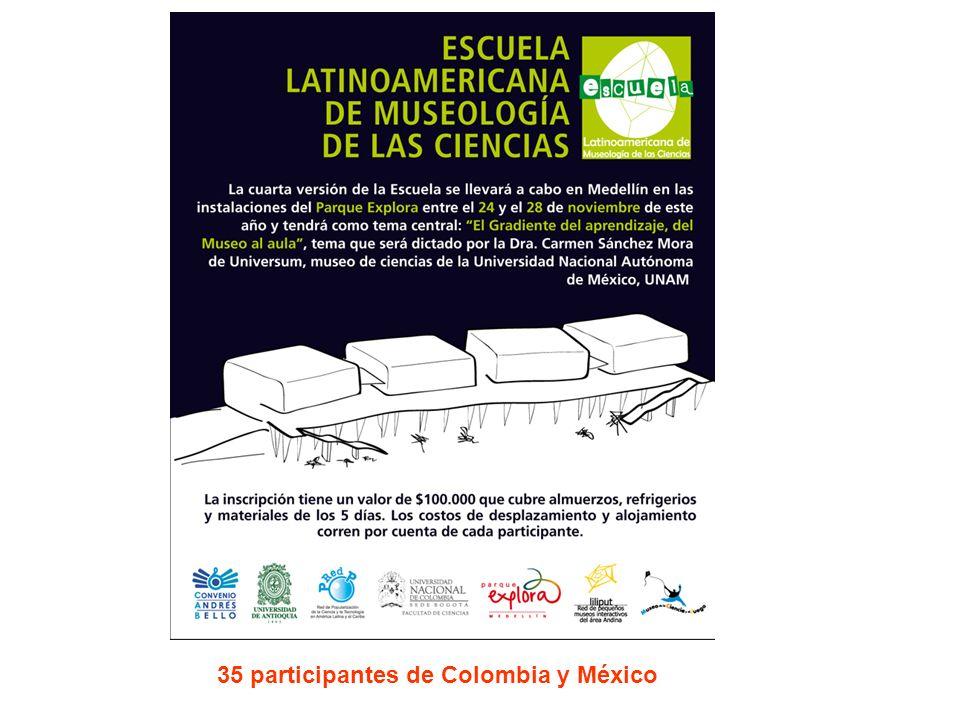 35 participantes de Colombia y México