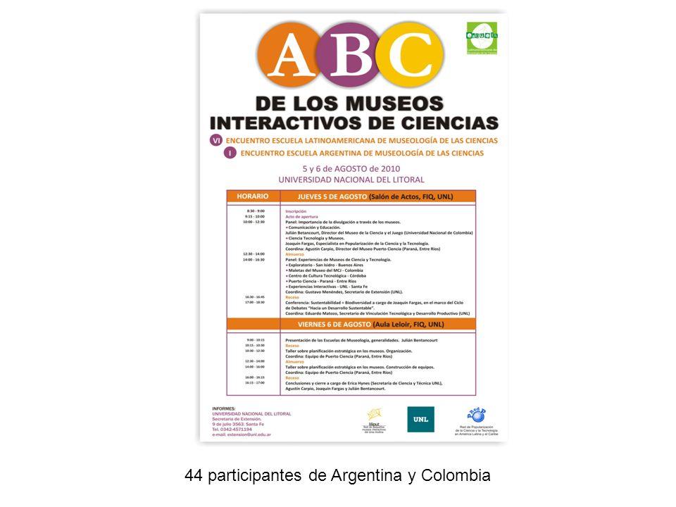 44 participantes de Argentina y Colombia