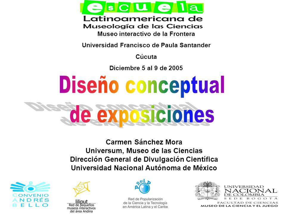 Diseño conceptual de exposiciones Carmen Sánchez Mora