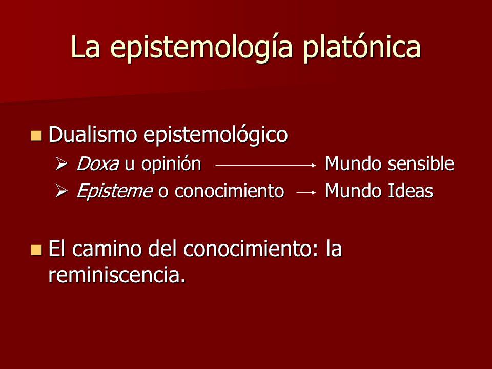 La epistemología platónica