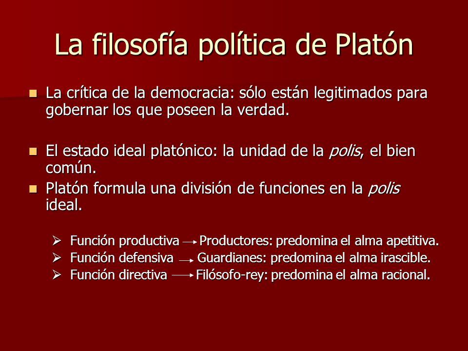 La filosofía política de Platón