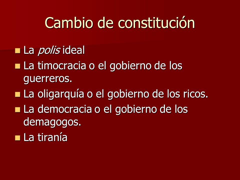 Cambio de constitución