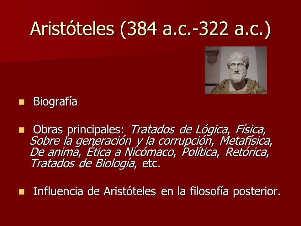 Aristóteles (384 a.c.-322 a.c.) Biografía