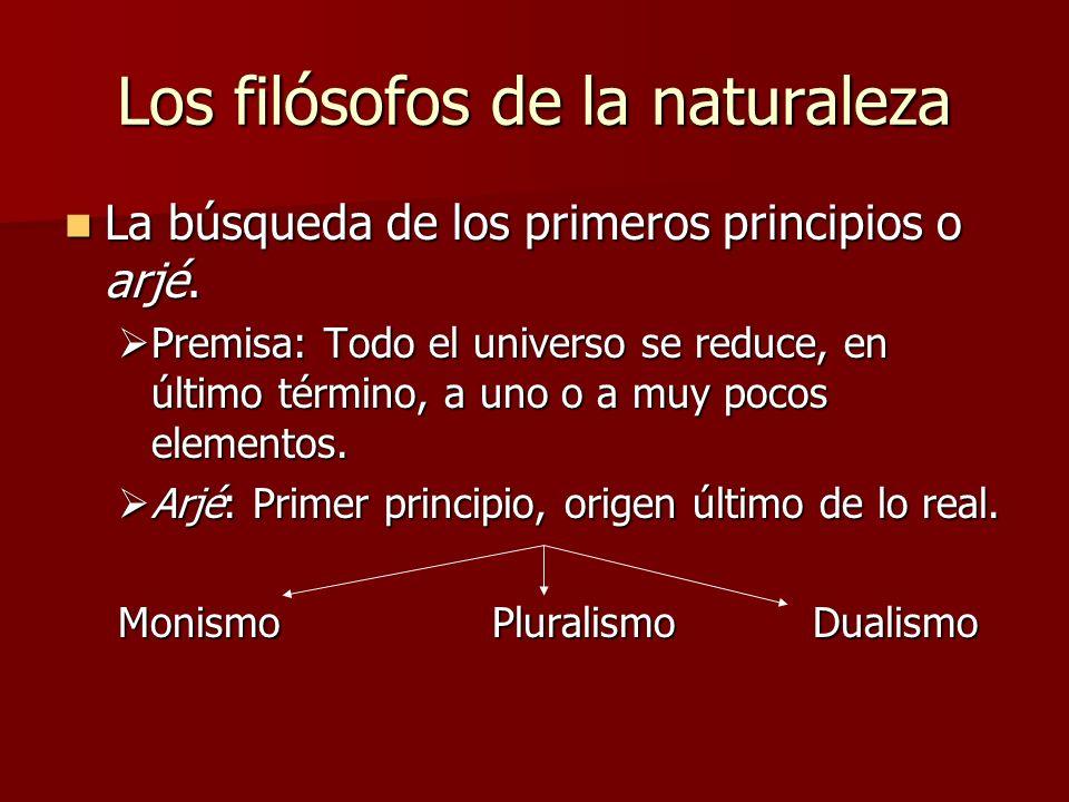 Los filósofos de la naturaleza