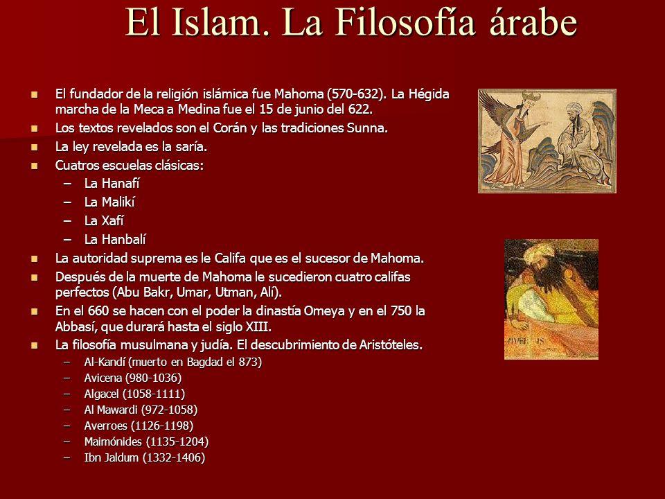 El Islam. La Filosofía árabe