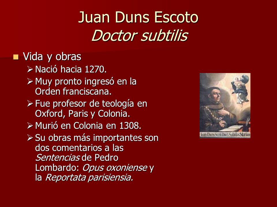Juan Duns Escoto Doctor subtilis