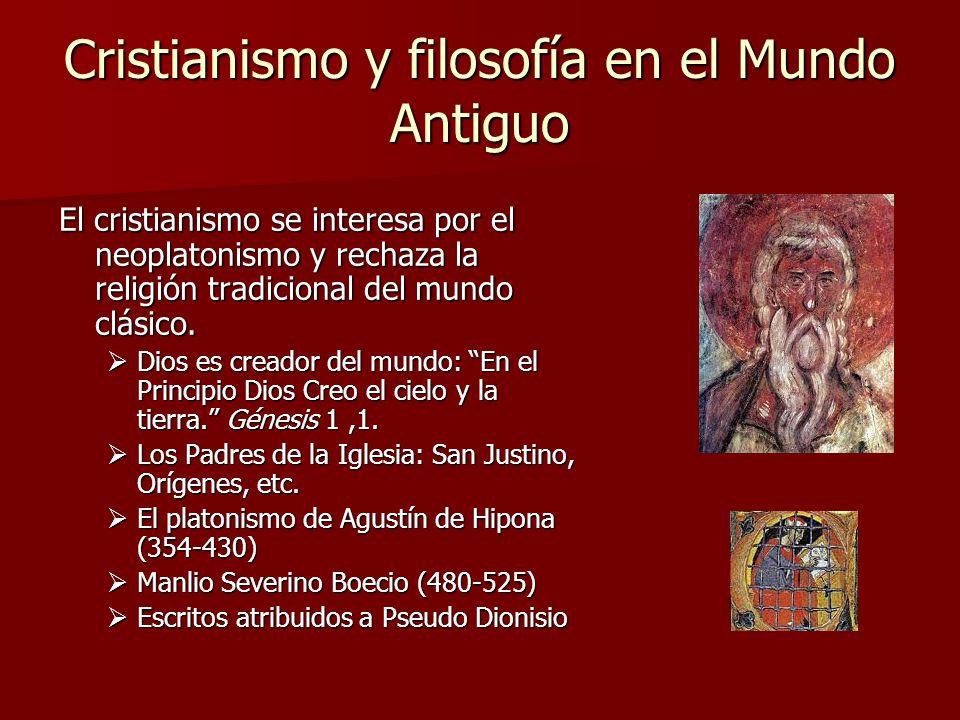 Cristianismo y filosofía en el Mundo Antiguo
