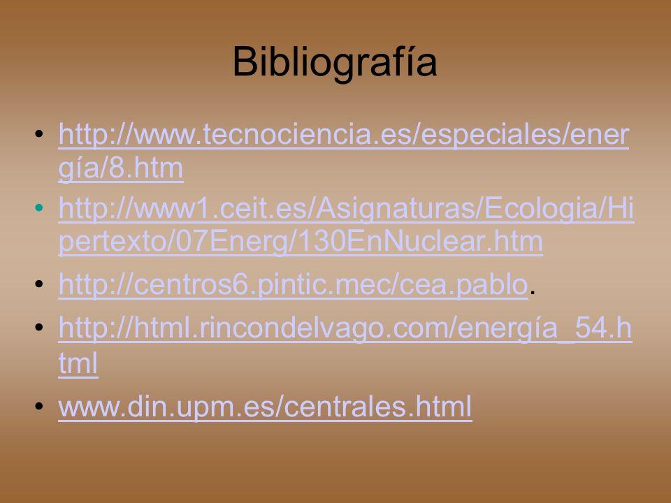Bibliografía http://www.tecnociencia.es/especiales/ener gía/8.htm