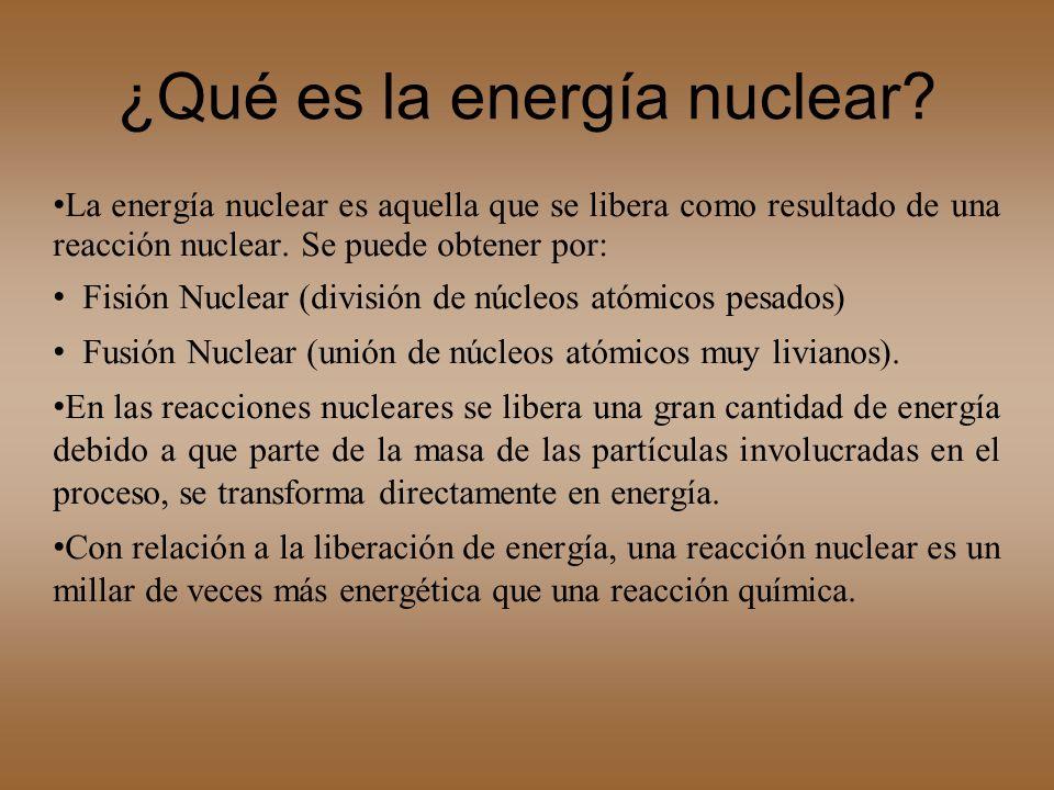 ¿Qué es la energía nuclear