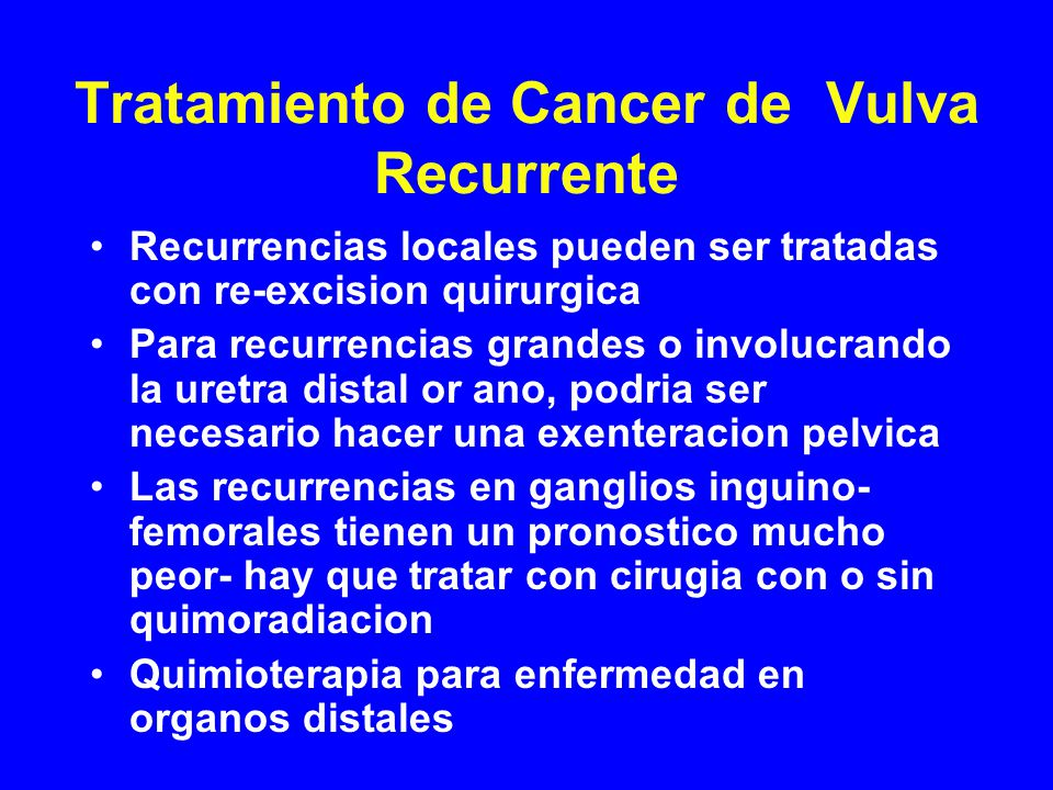 Tratamiento de Cancer de Vulva Recurrente