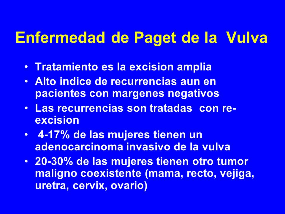 Enfermedad de Paget de la Vulva