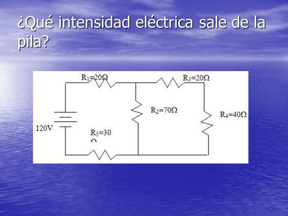 ¿Qué intensidad eléctrica sale de la pila