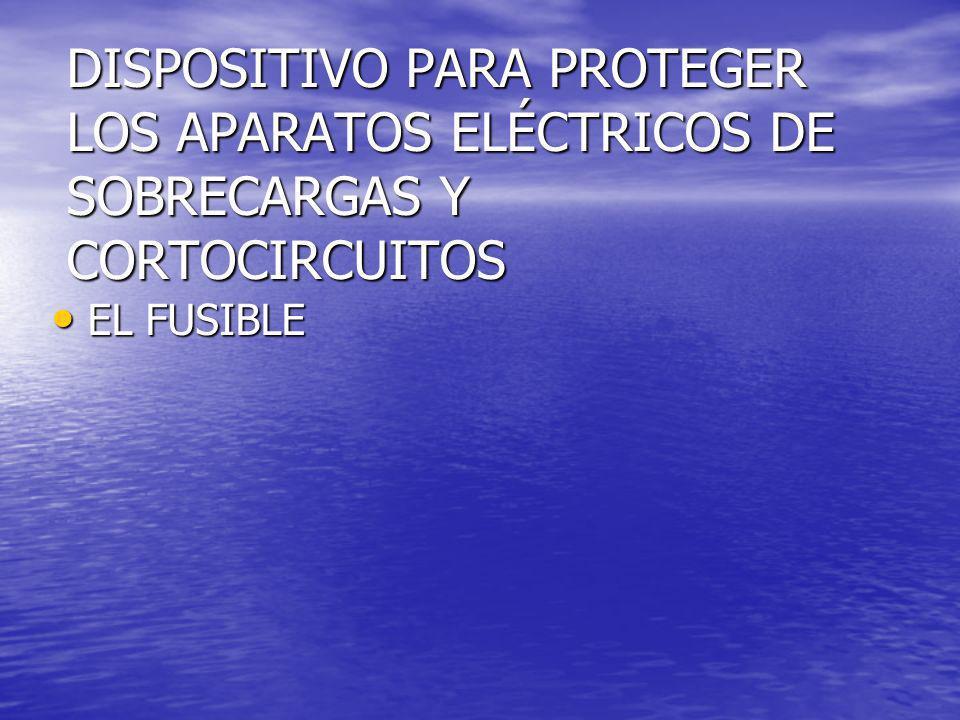 DISPOSITIVO PARA PROTEGER LOS APARATOS ELÉCTRICOS DE SOBRECARGAS Y CORTOCIRCUITOS
