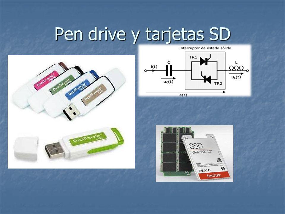 Pen drive y tarjetas SD