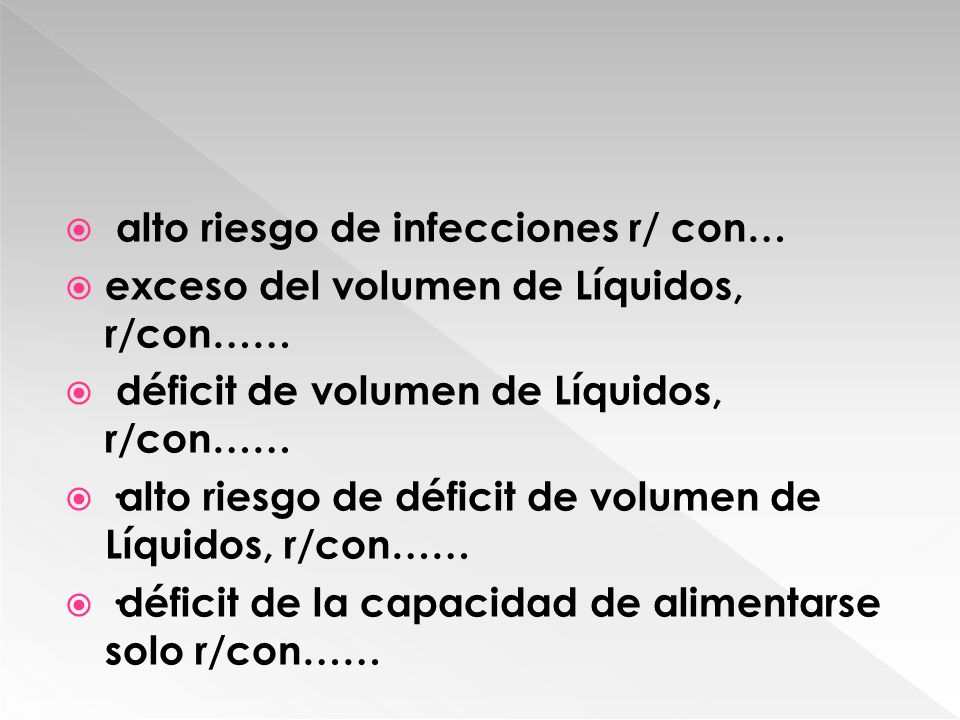 alto riesgo de infecciones r/ con…
