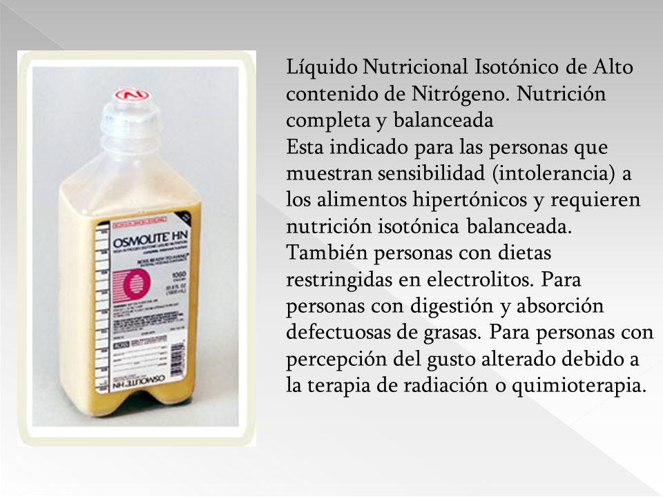 Líquido Nutricional Isotónico de Alto contenido de Nitrógeno