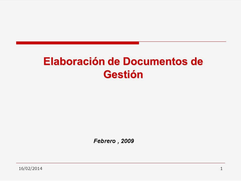 Elaboración de Documentos de Gestión