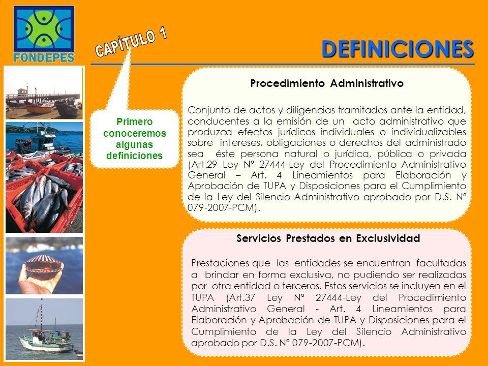 Procedimiento Administrativo Servicios Prestados en Exclusividad