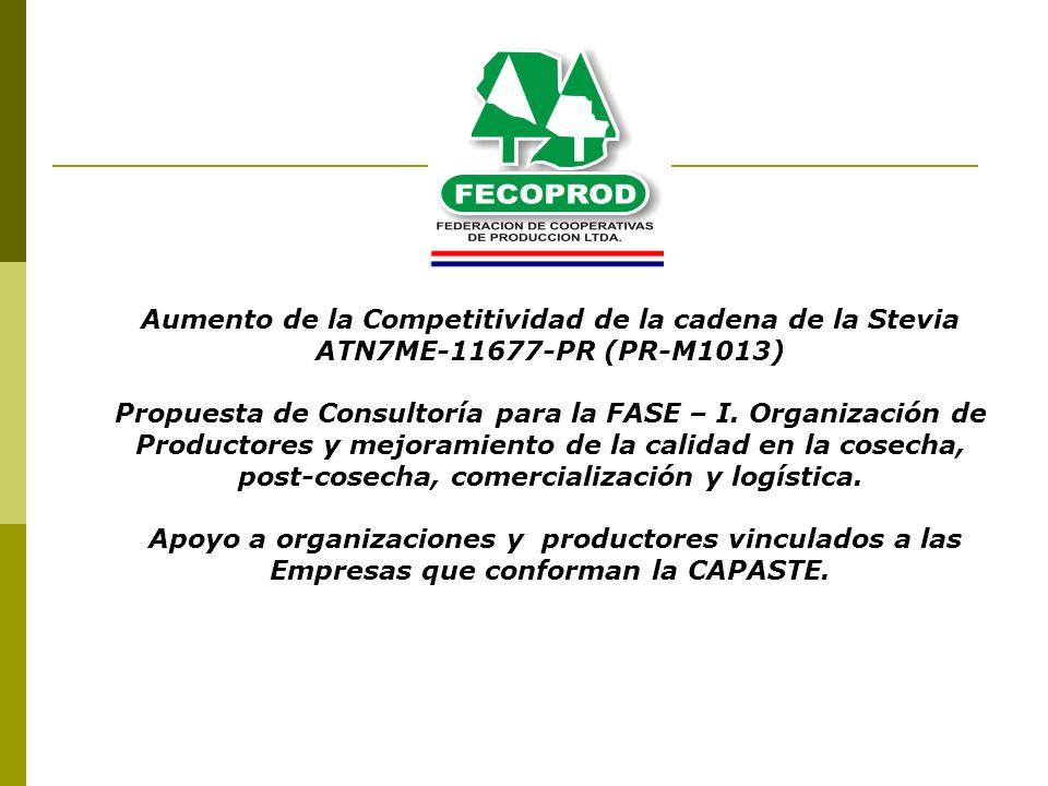 Aumento de la Competitividad de la cadena de la Stevia ATN7ME-11677-PR (PR-M1013)