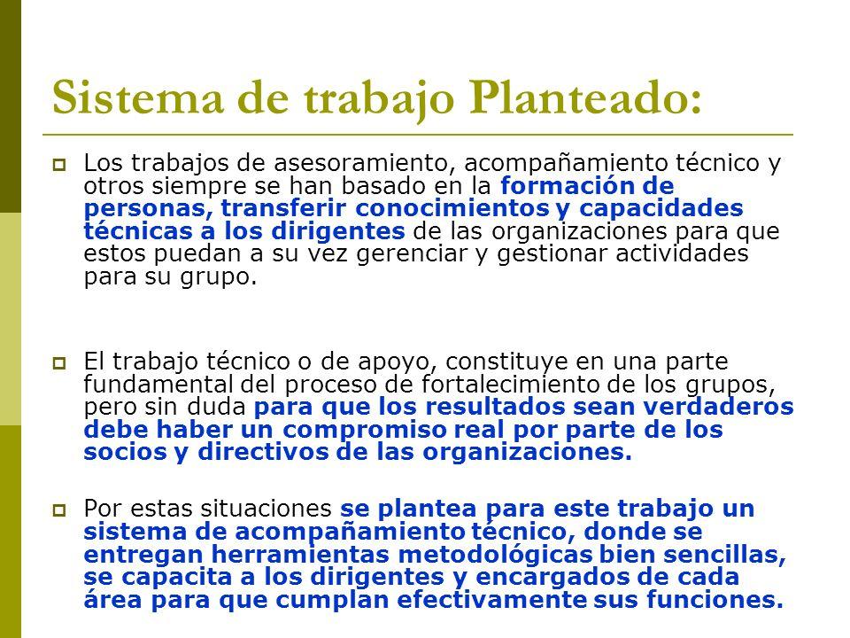Sistema de trabajo Planteado: