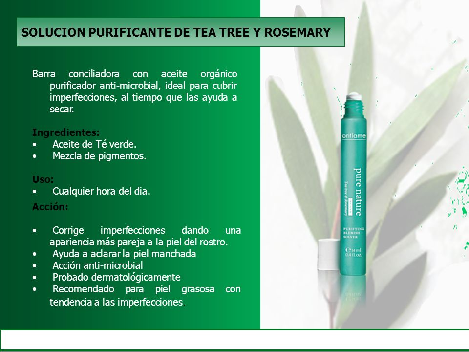 SOLUCION PURIFICANTE DE TEA TREE Y ROSEMARY