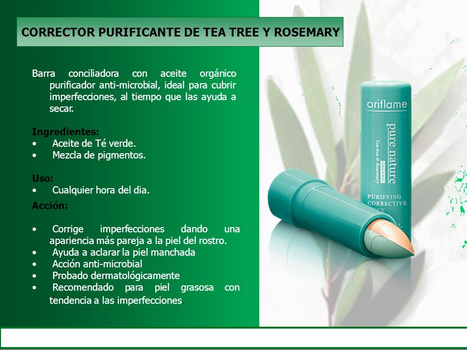 CORRECTOR PURIFICANTE DE TEA TREE Y ROSEMARY