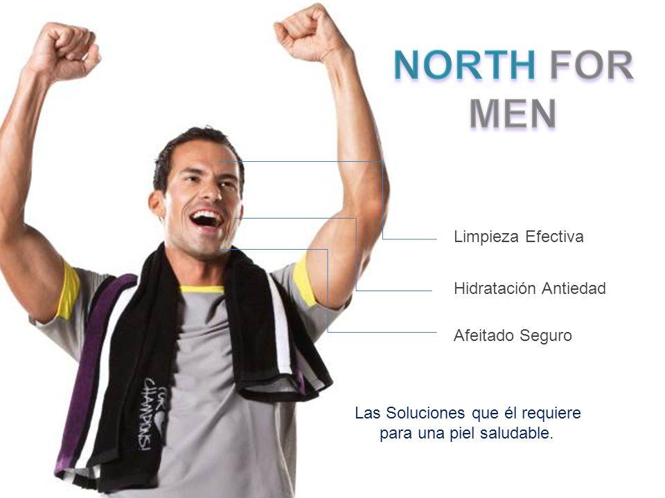 NORTH FOR MEN Limpieza Efectiva Hidratación Antiedad Afeitado Seguro