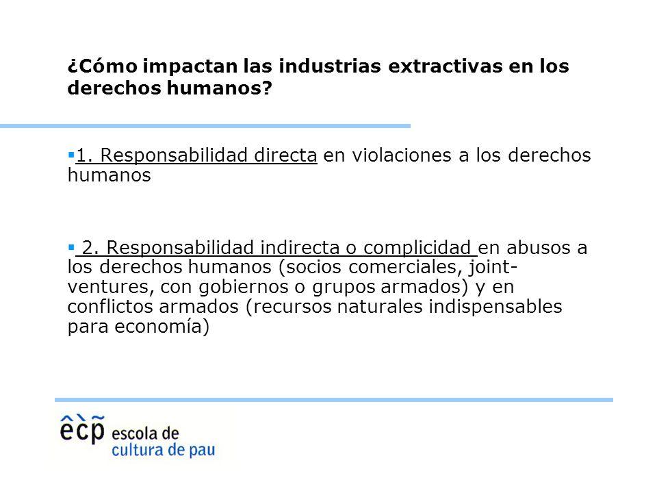 ¿Cómo impactan las industrias extractivas en los derechos humanos