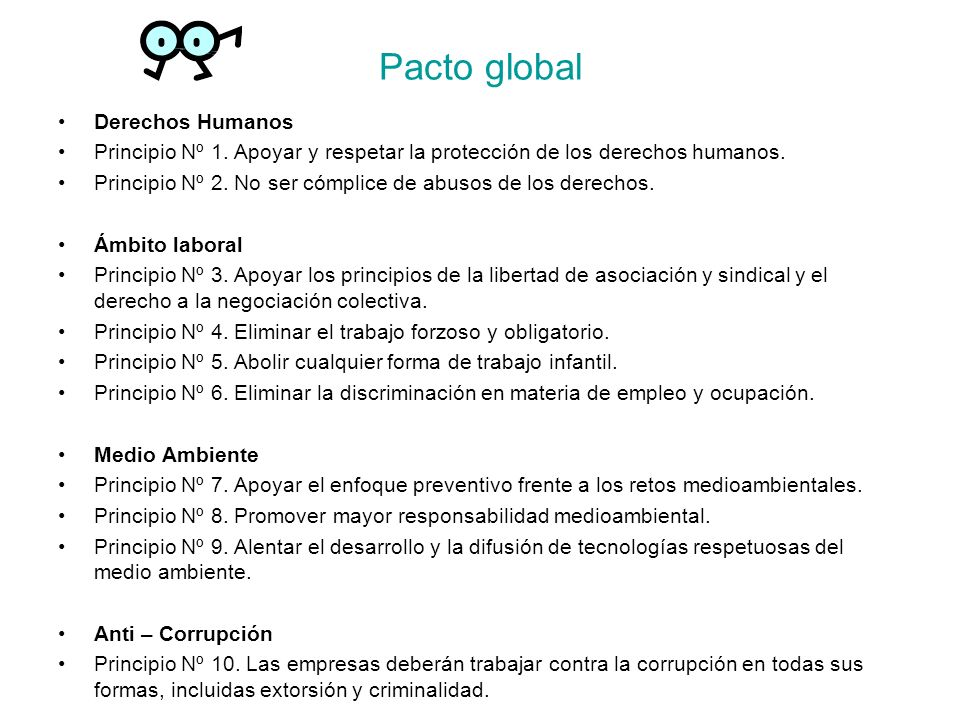Pacto global Derechos Humanos