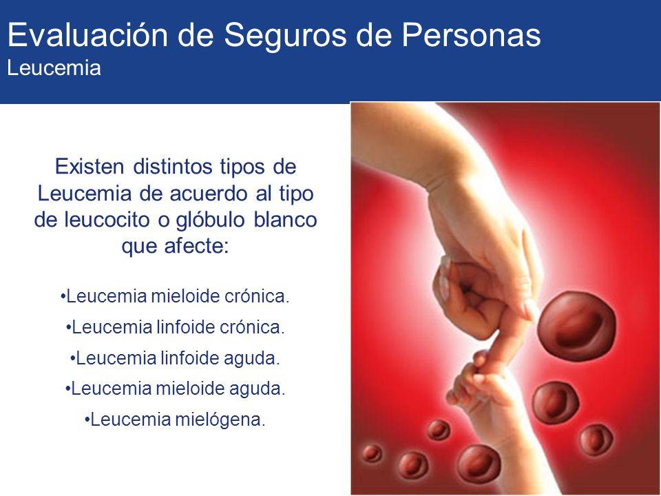 Evaluación de Seguros de Personas Leucemia