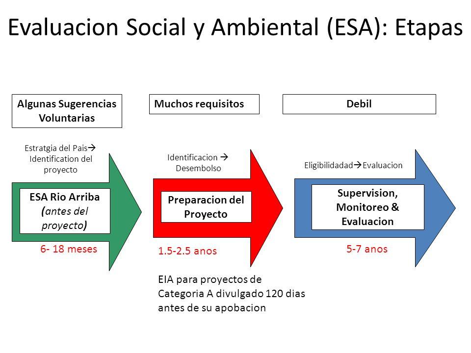 Evaluacion Social y Ambiental (ESA): Etapas