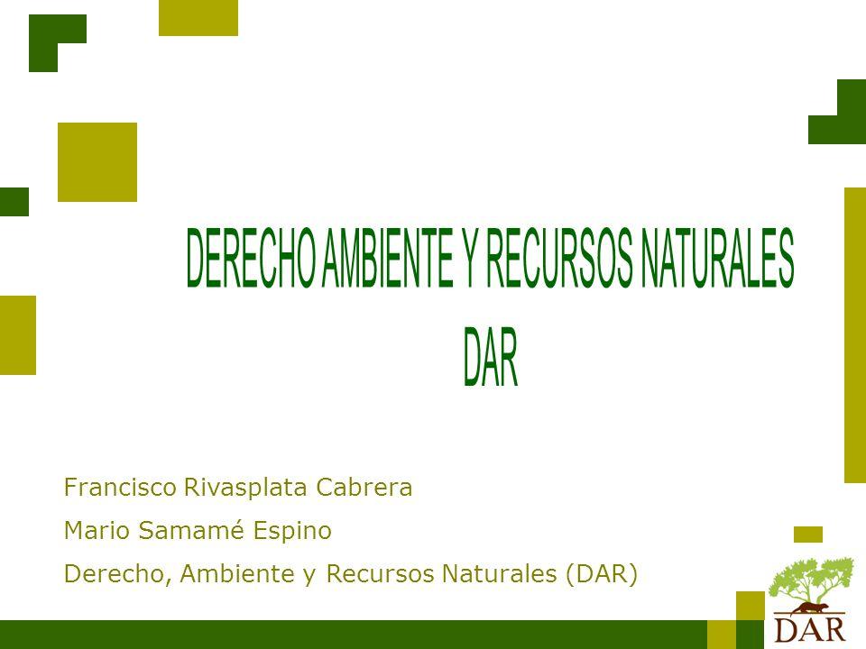 DERECHO AMBIENTE Y RECURSOS NATURALES DAR