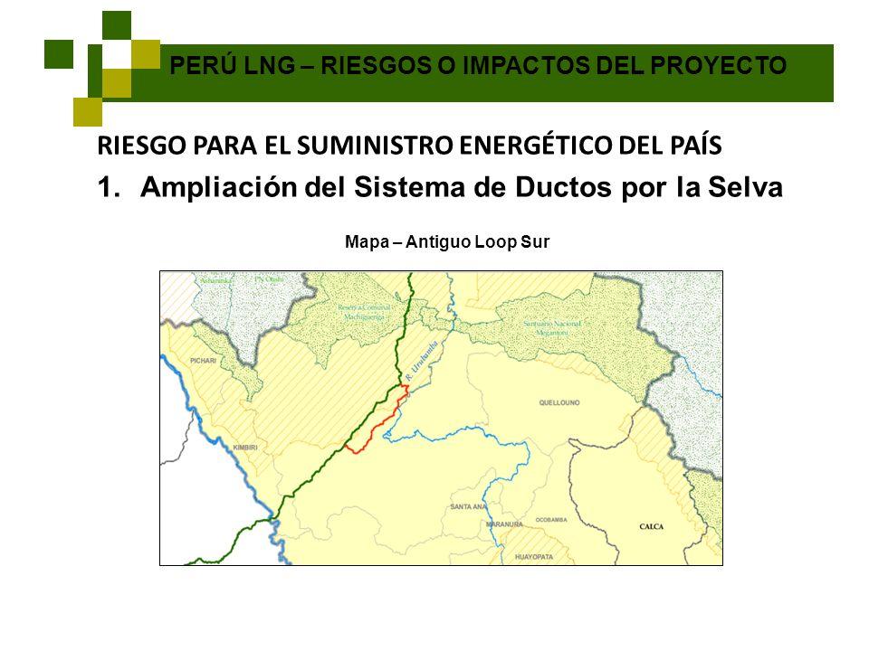 RIESGO PARA EL SUMINISTRO ENERGÉTICO DEL PAÍS