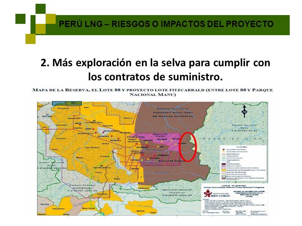 PERÚ LNG – RIESGOS O IMPACTOS DEL PROYECTO