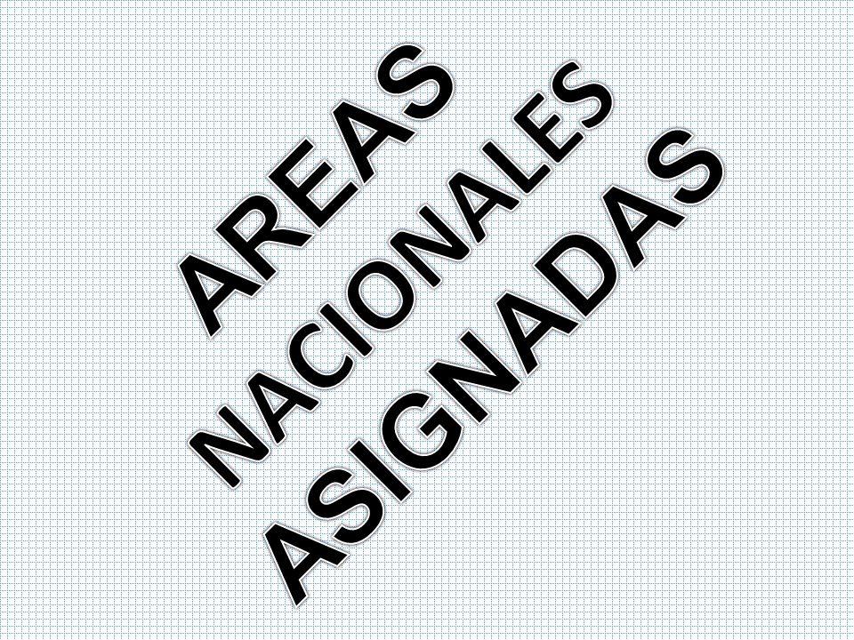 AREAS NACIONALES ASIGNADAS