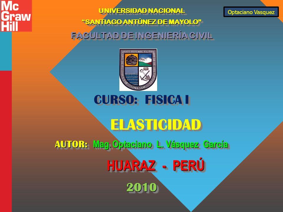 CURSO: FISICA I 2010 ELASTICIDAD