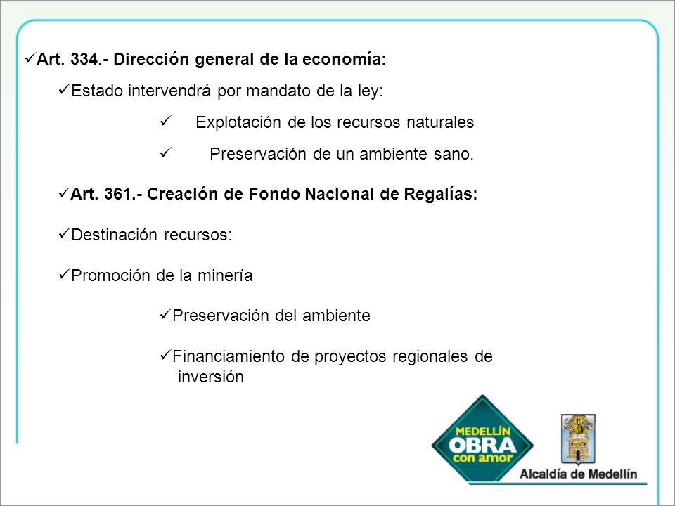 Art. 334.- Dirección general de la economía: