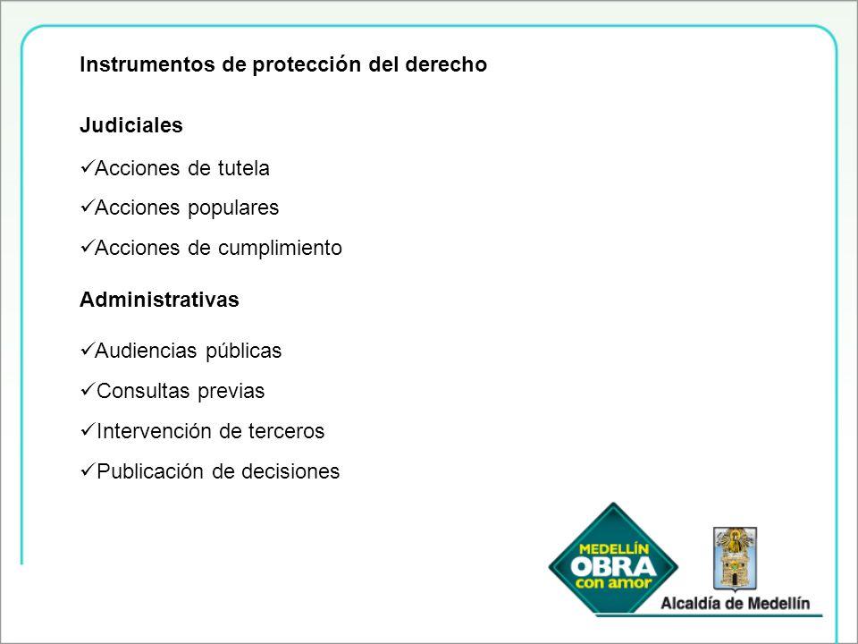 Instrumentos de protección del derecho
