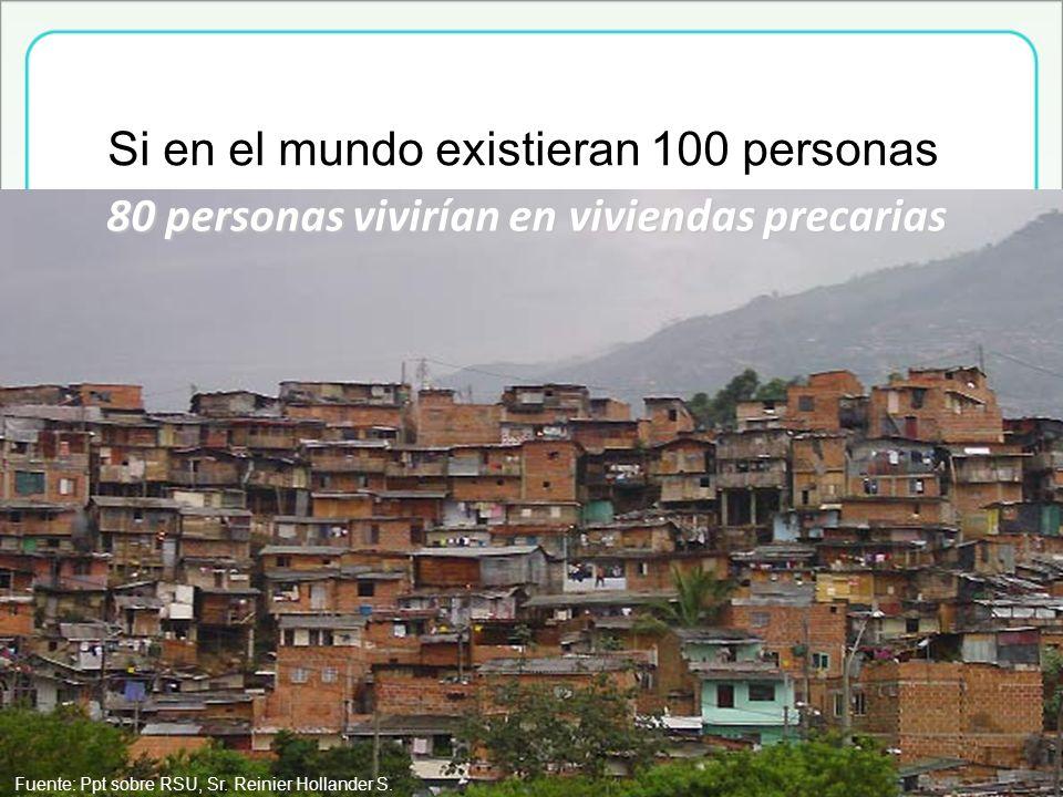 80 personas vivirían en viviendas precarias