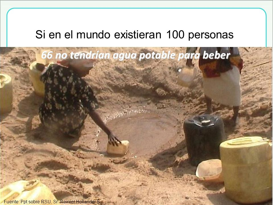 66 no tendrían agua potable para beber