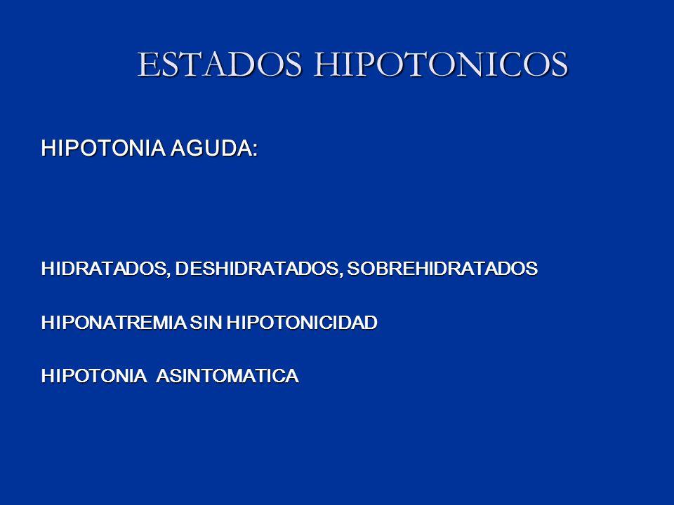 ESTADOS HIPOTONICOS HIPOTONIA AGUDA: