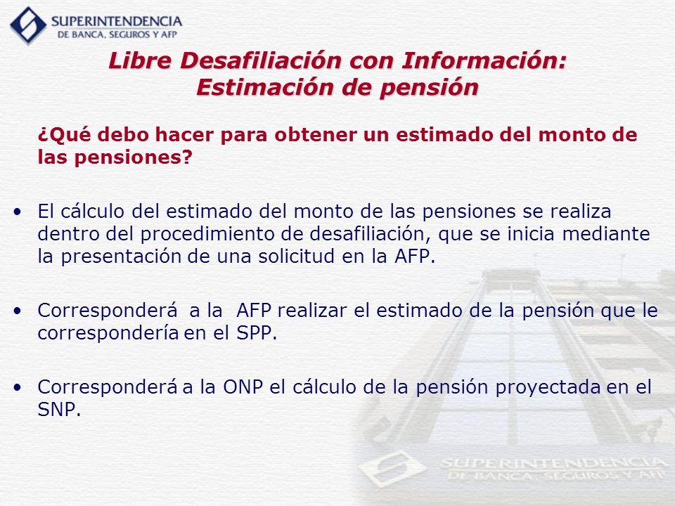 Libre Desafiliación con Información: Estimación de pensión